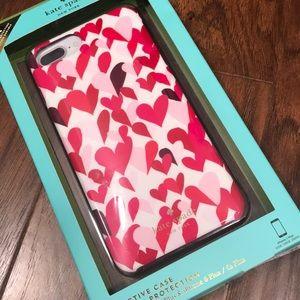 💕Kate Spade iPhone 7 Plus hearts case